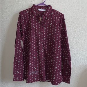 NWT Woolrich Keystone Printed Fig Button Down